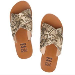 BillaBong surf Bandit snake print sandals NEW